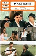 FICHE CINEMA : LA VEUVE COUDERC - Delon,Signoret,Piccolo 1971 Widow Couderc