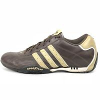 8b14bc41db4b2 RARE Adidas Adi Racer Goodyear Driving Shoes Sz 11 Brown Leather Vintage  Trefoil
