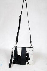 Real Cowhide Cross body Purse Handbag & Shoulder Bag Clutch Cow Leather SB-6972