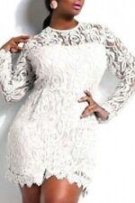 Vestiti da donna stretch bianco in pizzo