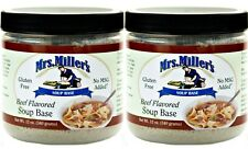 Mrs Millers Homestyle Beef Soup Base - 2 Jars / Gluten Free No MSG