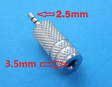 3.5mm Female to 2.5mm Male Stereo Aux Audio Connector Adapter Converter Metal