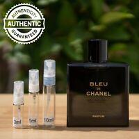 Bleu de Chanel PARFUM 2018 Sample AUTHENTIC 2ml 3ml 5ml 10ml