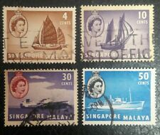 Singapore and Malaysia. 1955,  Stamps set of 4 stamps very Rare set vintage #161