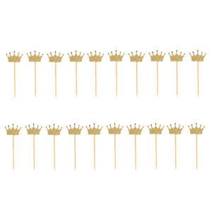 20 Glitter Paper Crown Cake Topper Pick Wedding Party Favor Birthday Decor