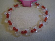 Clear Butterfly Red Bead Bracelet - PH117