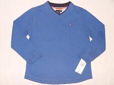 NWT TOMMY HILFIGER long sleeve top shirt BOY size 6 blue
