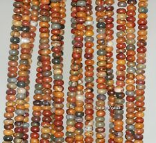 4X2MM  PICASSO JASPER GEMSTONE GRADE AA RONDELLE 4X2MM LOOSE BEADS 16""