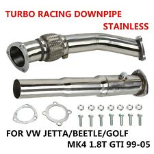FOR VW JETTA/BEETLE/GOLF MK4 1.8T GTI 99-05 STAINLESS TURBO RACING DOWNPIPE