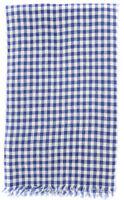 Neuf Luigi Borrelli Bleu Carreaux Longue Écharpe - 67.9cm x 193cm - (LBSS12213)