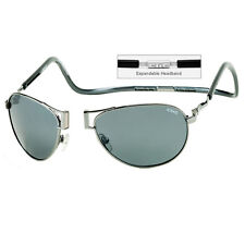 CliC Magnetic XXL Aviator Metal Polarized Sunglasses Around the Neck Sun Glasses