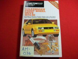 1974-90 VOLKSWAGEN FRONT WHEEL DRIVE MODELS-REPAIR, TUNE-UP & MAINTENANCE MANUAL