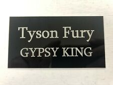 Tyson Fury Gypsy King - 130x70mm Engraved Plaque / Plate for Signed Memorabilia