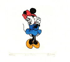 MINNIE MOUSE HAND PAINTED LTD ED ETCHING