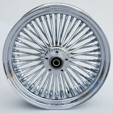 """Chrome 48 King Spoke 17"""" x 6"""" Rear Wheel for Harley Models, Incl. 25mm Bearings"""