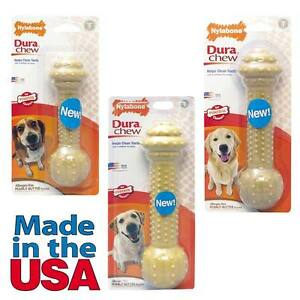 TOUGH DOG CHEWS Durable Hard Barbell Long Lasting Dental Chew Treats For Dogs