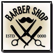 Personalisierte Barbier Metallschild, haben ihren auf der Zeichen, Haarschnitte,