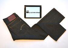 GSTAR G-STAR GS01 Mens Jeans Navy Blue Textured Straight Leg W28 L30 Straight