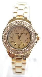 Anne Klein AK/2468CHGB Gold Dial Gold Tone Stainless Steel Women's Watch