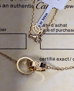 Cartier Love Necklace 18k  Real Gold