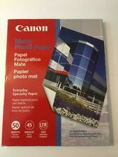 """Canon Matte Photo Paper For Inkjet Printers 50 Sheets 8.5"""" X 11"""""""