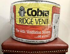 New Gaf Cobra Ridge Roof Attic Vent Exhaust 20' Ft x 10.5� Mesh Ventilation Roll