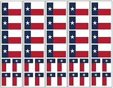 40 Removable Stickers: Texas State Flag, Texan Party Favors, Decals