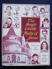 MAGIC CASTLE WALLS OF FAME - SIGNED by ABB DICKSON Caricatures & Profiles 1st Ed