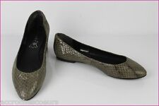 Ballerines ANDRE Cuir Façon Python Taupe T 38 TBE