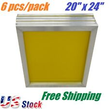 "6 PACK Aluminum Frame Silk Screen Printing Screens 20"" x 24"" With 230 Mesh Count"