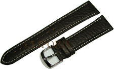 Aviatori bracciale orologi orologi pilota NASTRO MARRONE PELLE bianco cuciture Uhrband 22mm Strap