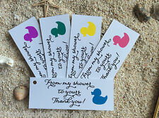 10 Kraft White Gift Tags Baby Shower Favour Bomboniere From my shower to yours Q
