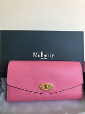 Authentic Mulberry Darley Leather Wallet Geranium Pink MSRP $395