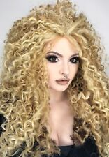 Hair by MissTresses Light Blonde Mix Long Spiral Afro Curl Wig/ Lace Front Queen