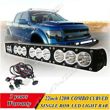 CREE 22 INCH 120W Curved LED Light Bar SINGLE ROW OFFROAD JEEP SUV UTE 4WD TRUCK