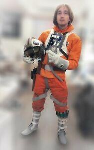 Luke Skywalker Hoth Rebel Pilot Orange X-wing Jacket replica with knife pleats