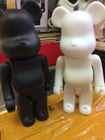 400% bear@brick  Bearbrick Paint Art New Toy Color White and Black Hot 2020