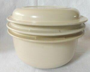Vintage Tupperware Ultra 21 3-Pc 3/4 Qt.1725 Lid 1740 2qt.sieve & 1724 3 qt Bowl