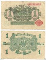 Germany-1 Mark-1914/Red serial and seal/wmk:D