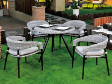 Dining Chairs Round Table Wicker Cushion Rattan Outdoor Furniture Garden Patio