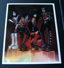 ORIG 1970's KISS PROMO 8X10 COLOR PHOTO - SIMMONS - FREHLEY - STANLEY - CRISS
