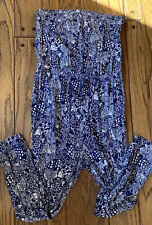 Lilly Pulitzer Strapless Jumpsuit Romper XL