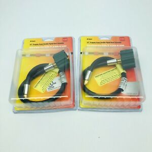 """LOT OF 2 MR.HEATER 18"""" PROPANE ACME FLEXIBLE PIGTAIL HOSE 1/4""""INVERTED MALE FLAR"""