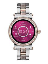 MICHAEL KORS MK Sofie Silver/Rose Gold Glitz Touchscreen Smartwatch MKT5040 NWT