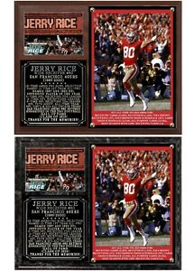 Jerry Rice #80 San Francisco 49ers Photo Card Plaque