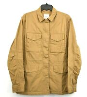 Thread & Supply Womens Utility Jacket Front Zip Drawstring Snap Tab Cotton L $60