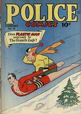 Police Comics #51 Photocopy Comic Book, Plastic Man, The Spirit, Manhunter