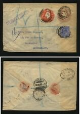 Great  Britain  double embossed uprated postal envelope   1906    MS0216