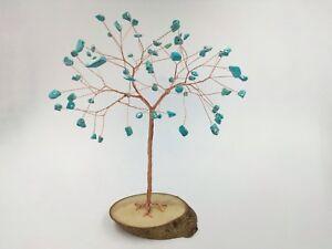 Turquoise Gemstone Tree, December birthstone gift, 5th anniversary gift