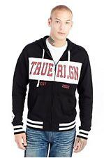 True Religion Men's Fight On Paneled Zip-Up Hoodie